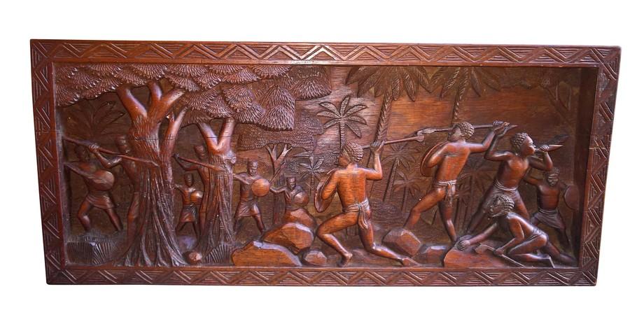 Antique vintage madagascan wall carving Malagay? From Antik Seramika