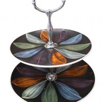 Mid century retro leaf design cake stand at Antik Seramika