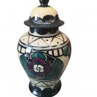 TS Forester Baluster vase, Phoenix ware, Nepal ware, 1930s pottery from Antik Seramika