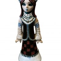Ukrainian folklore figurine art pottery at Antik Seramika