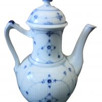 Samson Antique Les Immortelle coffee pot or tea pot - antique porcelain at Antik Seramika