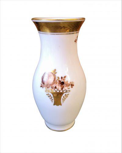 Royal Copenhagen Brown rose vase - vintage porcelain at Antik Seramika
