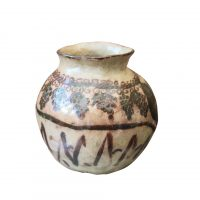 Antique earthenware wine pot with grape and vine decoration - Antik Seramika