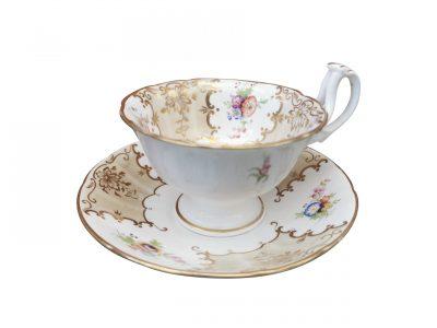 Coalport Rockingham antique breakfast cup and saucer - Antik Seramika