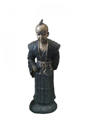 Vintage Japanese figure in brass and bronze of a Japanese man from Antik Seramika