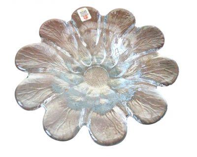 Mid century Holmegaard petal glass bowl, Scandinavian retro art glass At Antik Seramika