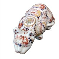 Vintage Chinese Imari hand painted cat - Antik Seramika