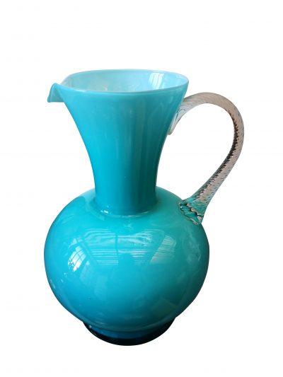 Mid century turquoise Empoli retro Italian jug from Antik Seramika