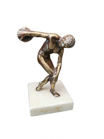 Antique brass grand tour Olympian figure on marble base from Antik Seramika, UK