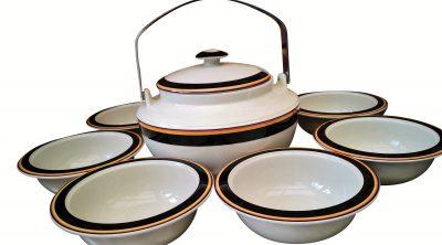 Finland Arabia Reimari Leivo mid-century Scandinavian art pottery soup set